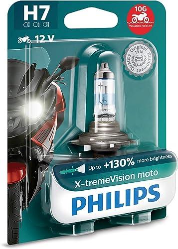 Philips 12972XV+BW X-tremeVision Moto +130% H7 ampoule de phare de moto, 1 pièce
