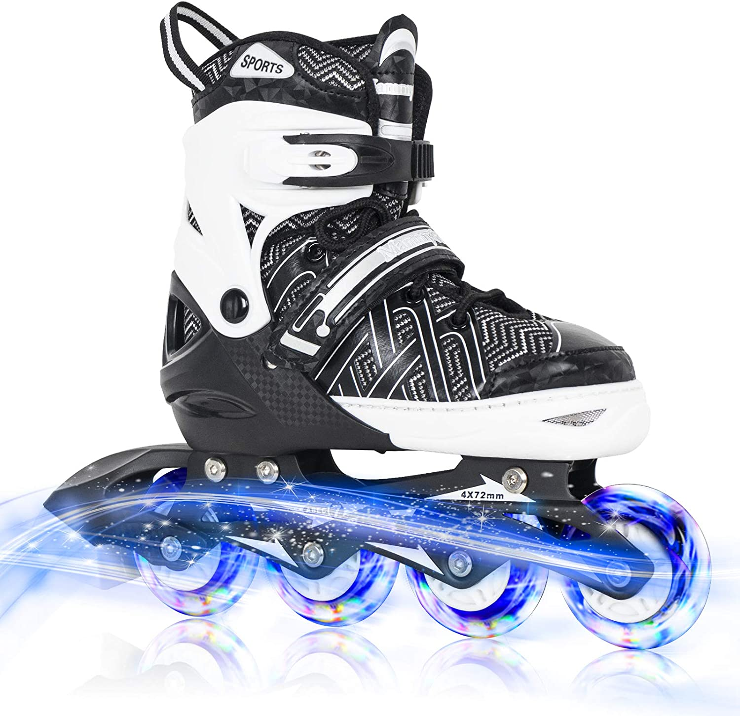 Nattork Adjustable Inline Skates for Kids Max Cash special price 74% OFF up Whe with Full Light