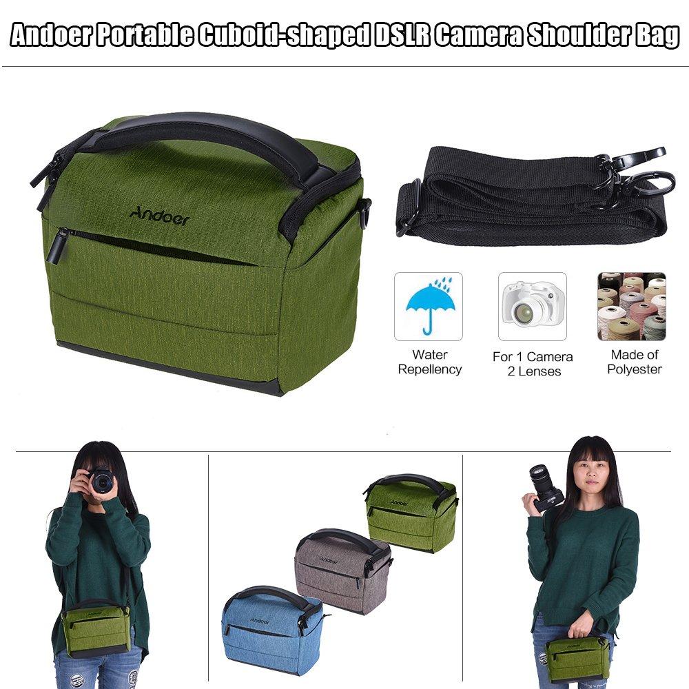 Andoer Cuboid shaped DSLR Camera Shoulder Bag Portable