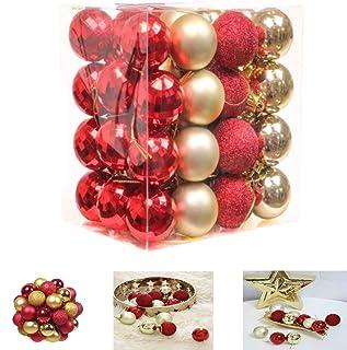 kaishuai-48 pièces Noel decoration sapin- 40mm Decoration de noel pour sapin,noel decoration,Boule d'Arbre de Noël,boule p...