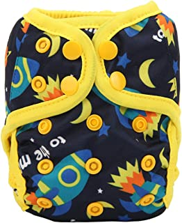 Sigzagor Newborn Baby Diaper Nappy Cover 8lbs-10lbs For Boys (To The Moon)