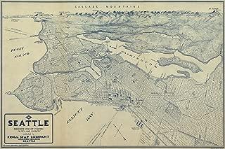 Seattle, Washington - (1925) - Panoramic Map (24x36 Giclee Gallery Print, Wall Decor Travel Poster)