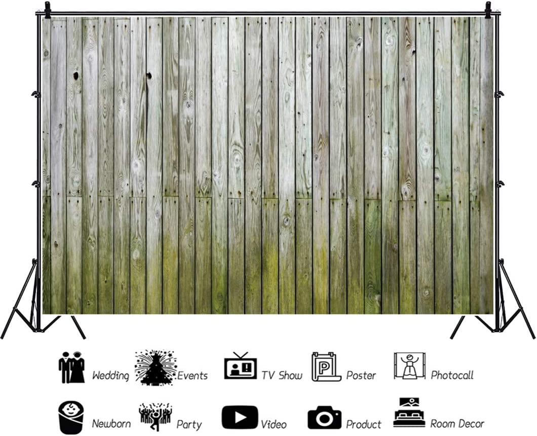 OERJU 5x4ft Vintage Faded Cyan Wood Board Backdrop Retro Holes Texture Wood Plank Photography Background Baby Shower Cake Table Banners Happy Birthday Party Decor Kids Adults Portrait Photo Props