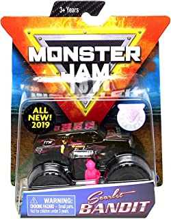 Monster's Jam, Official Scarlet Bandit Monster Truck, Die-Cast Vehicle, Danger Divas Series, 1:64 Scale