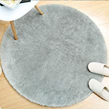 Round Rug Living Room Coffee Table Pad Bedroom Bedside Cabinets Carpets Children's Crawling Carpet (Color : Purple, Size :...