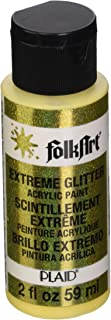 FolkArt Extreme Glitter Acrylic Paint in Assorted Colors (2 oz), 2879, New Chick Yellow