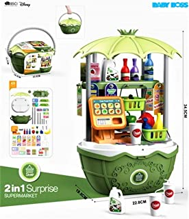 BABY BOSS - 2 IN 1 Surprise Super Market Playset For Kids 49pcs