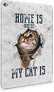Home Is Where My Cat Is Funny Quote Pussy Kitty Cat Tumblr Plastic Tablet Snap On Back Case Cover Shell For iPad Air 2