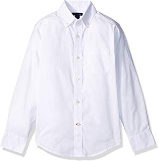 Tommy Hilfiger Boys' Long Sleeve Solid Oxford Button-Down...