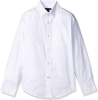 Boys' Long Sleeve Solid Oxford Button-Down Dress Shirt