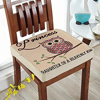 Cartoon Pattern Seat Cushioning, Square Chair Pad Hemp Comfortable Outdoor Non-slip Washable For Dining Chair-u L45xw45xh8cm