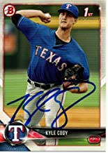 Kyle Cody Texas Rangers 2018 Bowman Rookie Autographed Signed Card