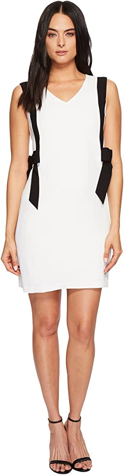 CeCe - Color Blocked V-Neck Dress w/ Bows