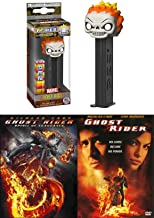 The Rider Ghost from Hell Movies Super Hero Ghost Rider 1 & 2 Spirit of Vengeance Marvel DVD & Pez Pop Figure Flames Double Feature