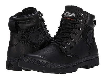 Palladium Pampa Shield WP+ LTH (Black/Black) Lace-up Boots