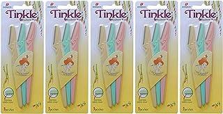 TINKLE DORCO EYEBROW RAZOR, 5 pack (15 RAZORS)