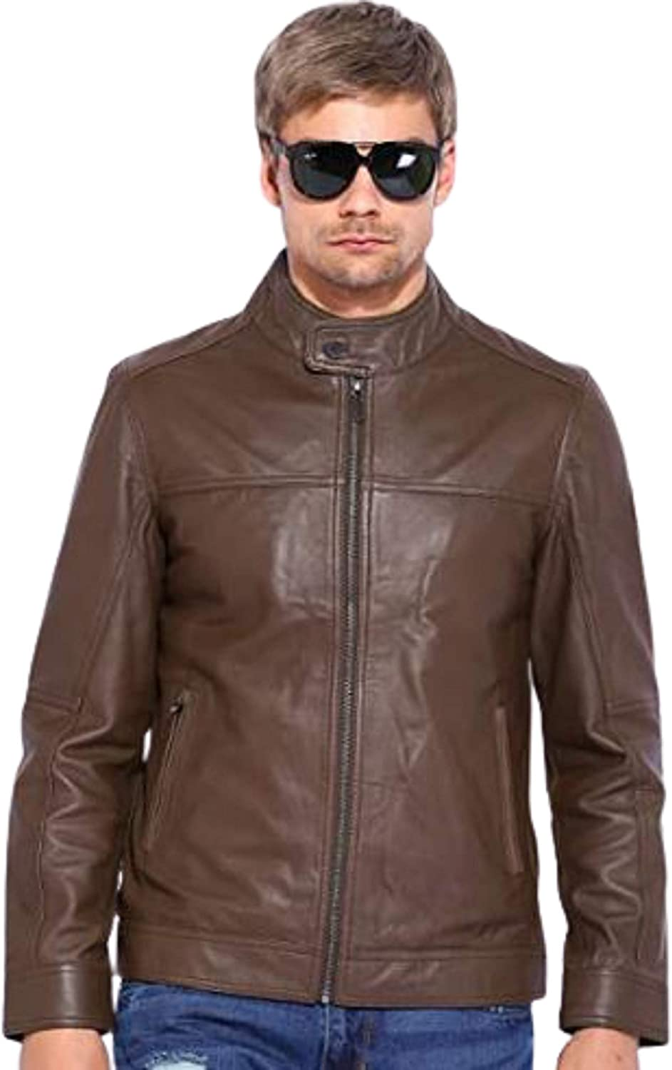 TOM JACK Leather Biker Jacket with Multiple Styles For Men And Boys