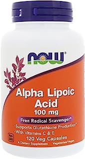 Now Foods Alpha Lipoic Acid 100mg 120 Vcaps