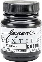 Jacquard Products TEXTILE-1122 Textile Color Fabric Paint, 2.25-Ounce, Black
