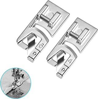 HQMaster Narrow Rolled Hem Presser Foot Sewing Machine Roll Roller Hemmer Press Feet 4mm & 6mm Set Fits Most Low Shank Snap-On Singer, Brother, Euro-Pro, Janome, Kenmore, White, Juki, Simplicity, Elna
