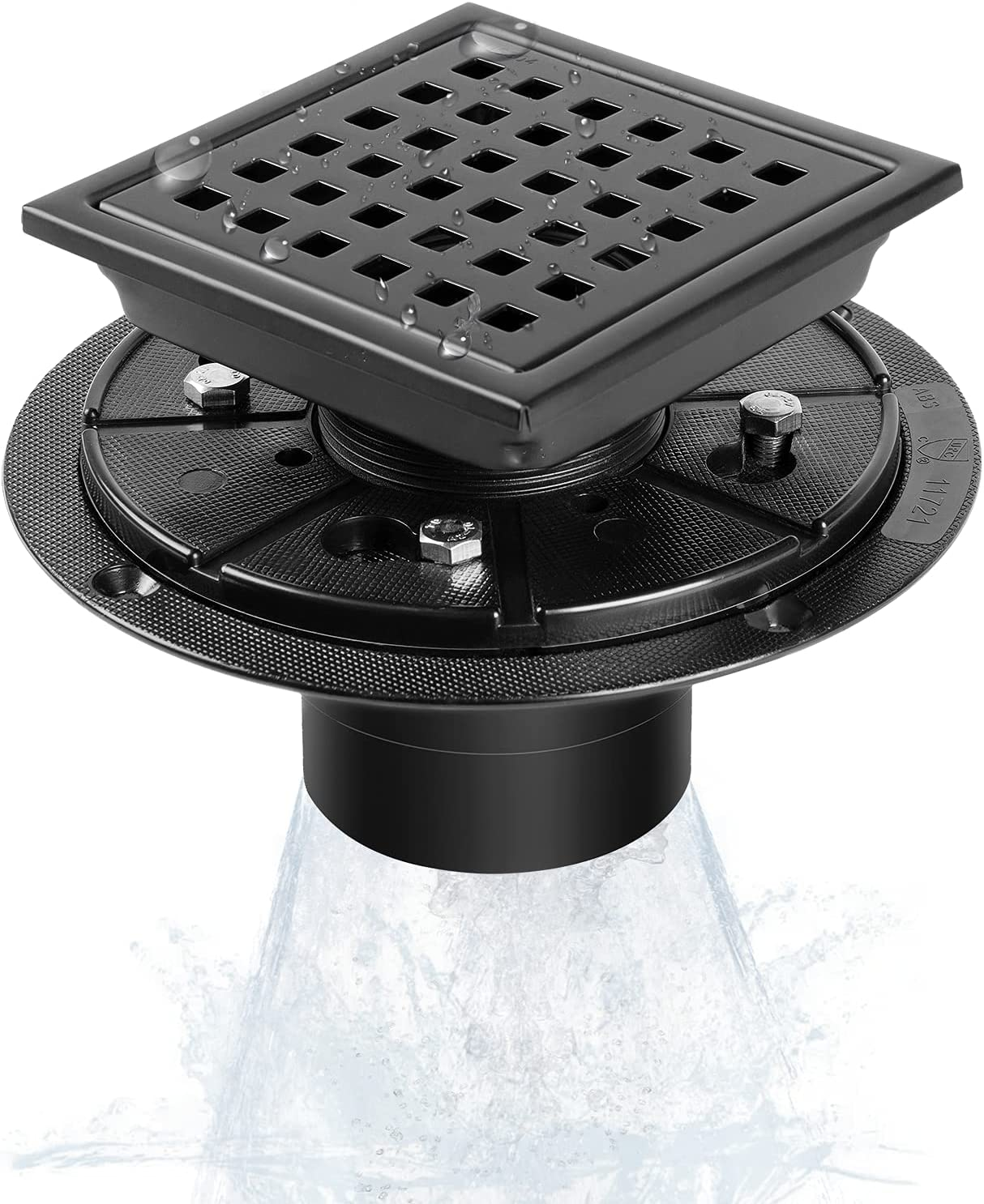 Shower Drain Tampa Mall MIRAFIT 4 Inch Flange with Bl Square Online limited product