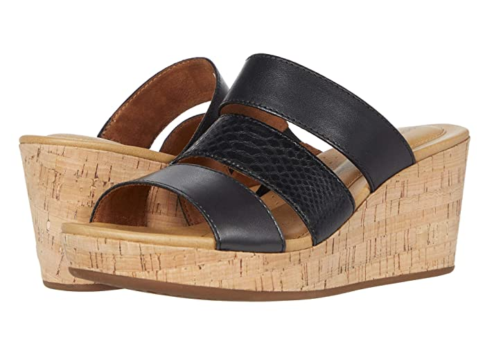 Rockport  Lyla 3 Band Slide (Black Multi) Womens Sandals