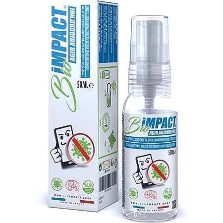 BIOIMPACT | Limpia Pantallas Movil | VIRUCIDA | Desinfectante Portatil Spray | Desinfectante Spray Virus | Limpiador Pantalla Ordenador | Limpieza PC ...