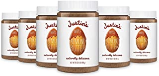 Justin's Maple Almond Butter, No Stir, Gluten-free, Non-GMO, Responsibly Sourced, Pack of 6 Jars, 16oz each