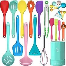 Silicone Cooking Utensils Kitchen Utensil Set- Fungun 26 Pcs 446°F Heat Resistant Tongs Spatula Spoon Kitchen Utensils Set...