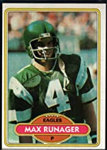 Football NFL 1980 Topps #227 Max Runager Eagles
