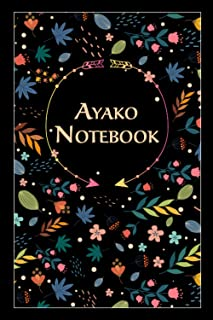 """Ayako Notebook: Lined Notebook/Journal Cute Gift for Ayako, Elegant Cover, 100 Pages of High Quality, 6""""x9"""" Lightweight an..."""