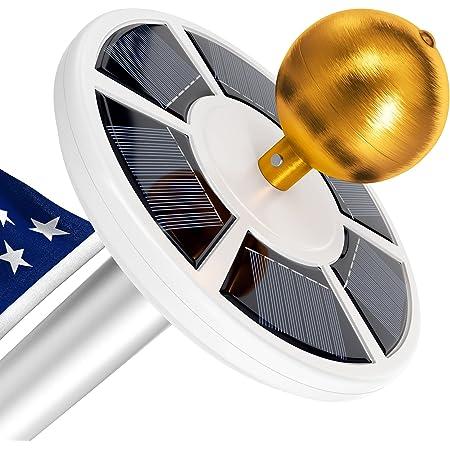 Solar Flag Pole Light, Lasts 2X Longer Than Competition, Super Bright Flag Pole Lights, 100% Flag Coverage, Fits Most Flag Poles, Flag Pole Lights Solar Powered, Bright Energy Saving LEDs - Vont
