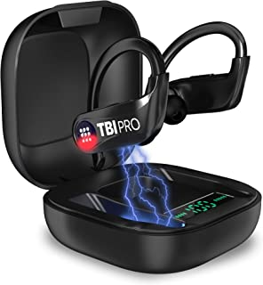 PowerPro Sport 5.0 Bluetooth Headphones - 50 Hours, HD Stereo Earphones - Powerbeats Pro Style TWS Totally Wireless Earbud...