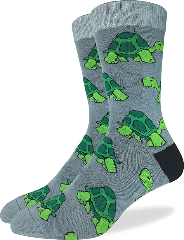 Good Luck Sock Men's Extra Large Turtle Socks, Size 13-17, Big & Tall