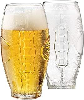 Beer Glass Set, 4-Piece Football Tumbler 23-Ounce … (23 Ounces)