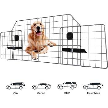 Adakiit Dog Barrier for SUV Car & Vehicles, Adjustable Pet Barrier Car Gate Universal Fit Wire Mesh Dog Car Guard - Car Divider for Dogs Pets SUVs