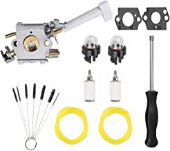 Podoy RY08420A Carburetor Bp42 Compatible with Ryobi 308054079 RY08420 Backpack Blower Fuel Line Adjustment Tool Kit 530069247 308054093 Carburetor Repower Kit