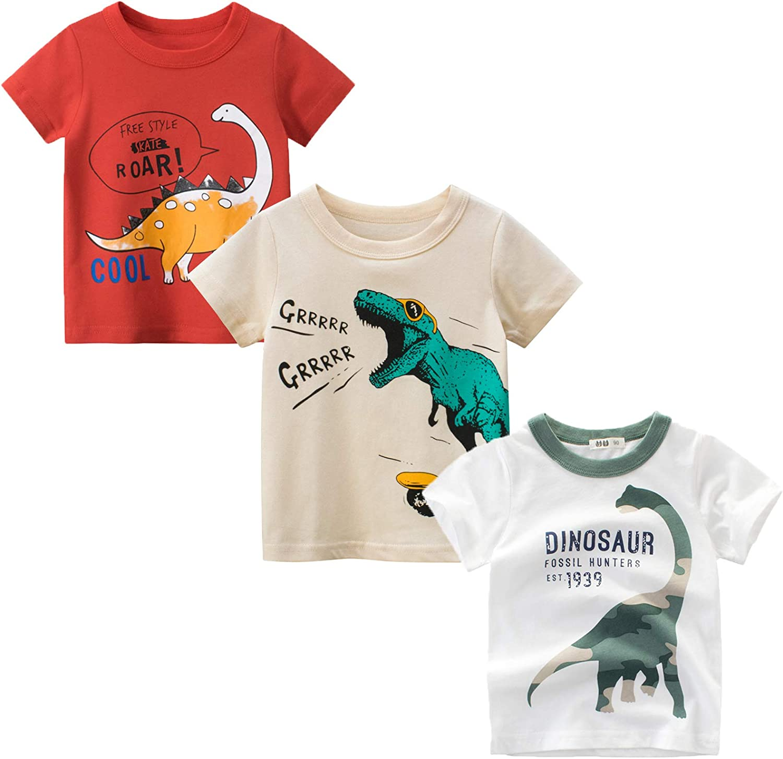 BIBNice Boys Summer Shirt Toddler Short Sleeve Top Kids Clothes Size 2-7T