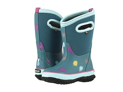 Bogs Kids Classic Funprint (Toddler/Little Kid/Big Kid) (Turquoise Multi) Girls Shoes
