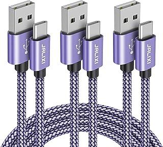 USB Type C ケーブル【1m/1m/1.8m 3本セット】JALIXI QC3.0対応 急速充電 高速データ転送 タイプcケーブル 高耐久ナイロン Galaxy Note 10 10 plus 9 8 S10 S9 A50 A51、Xp...