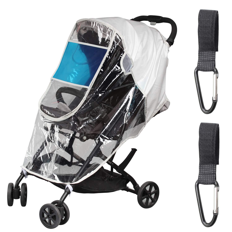Joyooss Stroller Rain Cover, Stroller Accessories, Universal Stroller Cover with Stroller Hook