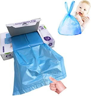 Disposable Scented Diaper Bags for Baby, Diaper Sacks Mask The Incontinence Odor Really, Fresh Light Baby Powder Scent, 18...