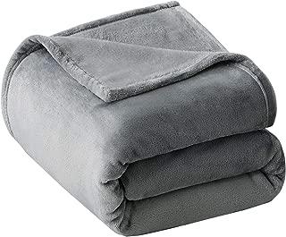 VEEYOO Fleece Blanket Queen Size - Ultra Soft Warm Plush Blanket All Seasons Lightweight Bed Throw Blanket 90 x 90 Inches, Grey