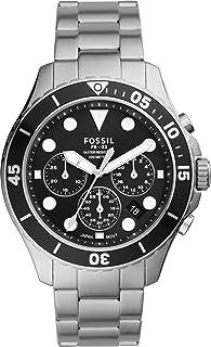 Fossil FB-03 - Orologio cronografo con cinturino in acciaio inossidabile tono argento per uomo FS5725
