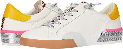 White Multi Leather