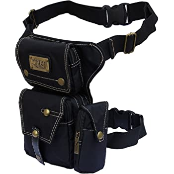 Monique Unisex Retro Canvas Fanny Pack Sport Waist Bag Drop Leg Bag Running Hip Pack Satchel