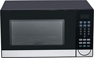 Black SMETA Microwave Oven Countertop With 6 Automatic Menus Child Safety Lock 1.1 Cu.Ft//1000W LED Display