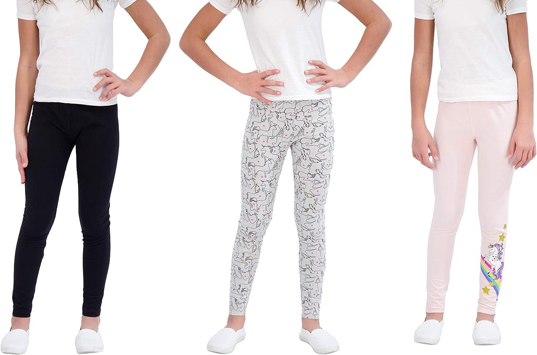 Time sale Star Ride Girls Leggings 3 Pack Stretc Pull Reservation Length On Full Pants