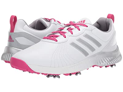adidas Golf Response Bounce (White/Magenta/Silver Metallic) Women