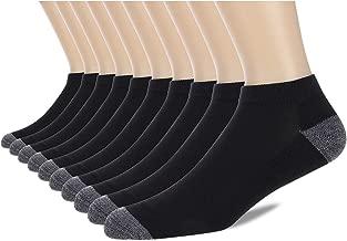 COOVAN 10 Pairs Mens Cushion Ankle Socks Men 10 Pack Low Cut Comfort Breathable Casual Socks